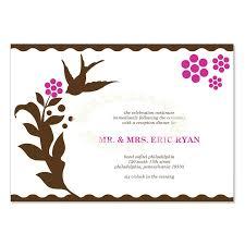 wedding reception card wedding reception card cloveranddot