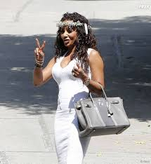 mel b en mode peace and love pendant la baby shower de kim