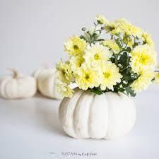 fall decor idea a diy mini pumpkin floral vase sustain my craft
