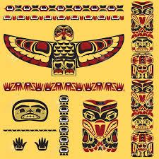 aboriginal clipart totem pole pencil and in color aboriginal