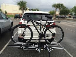 lexus rx 350 bike rack solution hitch trailer bicycle rack messing with reverse sensor