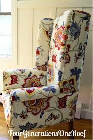 Recovering An Armchair Diy Reupholstered Wingback Chair Before U0026 After Four