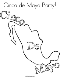 mexican coloring pages cinco de mayo party coloring page twisty noodle