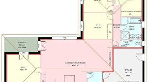 plan de maison en l avec 4 chambres plan maison plain pied 4 chambres garage plan de