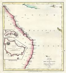 map of new south wales a new and accurate map of new south wales also norfolk and ld