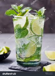 mojito cocktail bottle mojito cocktail lime mint highball glass stock photo 426405874