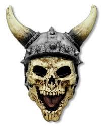 halloween skeleton mask viking skull mask skull mask with horns horror shop com