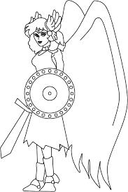 imagenes de zeus para dibujar faciles la historia de aracne la tejedora