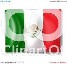 cartoon of a mexican flag royalty free vector clipart by