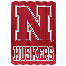 Metal Signs Home Decor by Nebraska Red Zone Nebraska Corrugated Metal Sign
