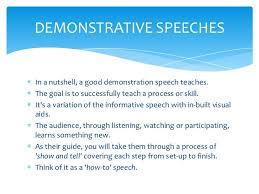 demonstration speech exles search school
