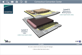 screen shot of connecticut convention centers interactive floor