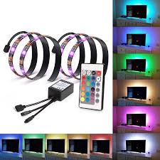 led light kohree 2 rgb multi color led light bias lighting hdtv usb