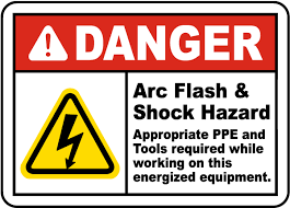 ansi z535 table 130 7 f danger arc flash shock hazard label j5531 by safetysign com