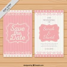 wedding invitations freepik wedding invitation with pink stripes vector free