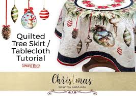 Quilted Christmas Tree Ornaments Quilted Christmas Tree Skirt Round Tablecloth Tutorial Sewing