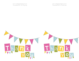 thank you card top printable thank you card template business