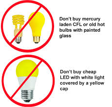 yellow ff miracle led 605023 bug lite bulb white led household light