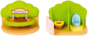 Rainbow Bathroom Accessories by Sylvanian Families Nursery Bathroom Set Amazon Co Uk Toys U0026 Games