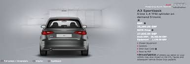 audi a3 configurator a3 configurator image 1 4 tfsi with single exhaust audi