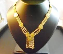 gold metal chain necklace images Coin chain necklace shweta jewelry jpg