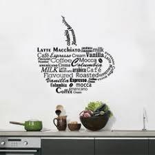 stickers pour la cuisine sticker thé ou café pour la cuisine décoration murale pour la