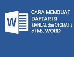 membuat latar belakang kti cara membuat daftar isi manual dan otomatis pada ms word lengkap