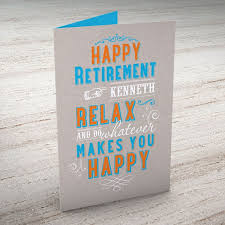 retirement card personalised retirement card relax from 99p