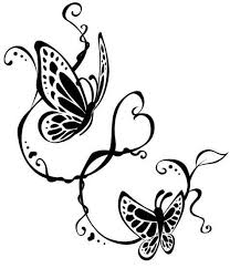 swirly black flying butterfly design tattooimages biz