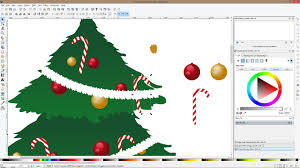 how to draw a christmas tree and ornaments with inkscape youtube