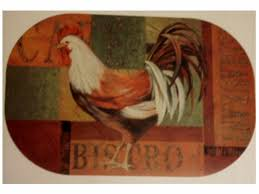 Rooster Kitchen Canisters Rooster Cafe Bistro Placemats Set Set Of 4 Oval Placemats