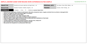 laborer resume resume badak