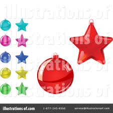 christmas ornaments clipart 1066054 illustration by vector