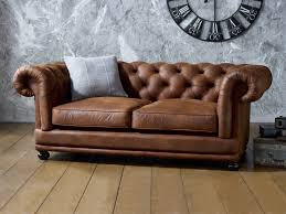 Brown Faux Leather Sofa Faux Leather Sofa A Must For A Large Space Pickndecor