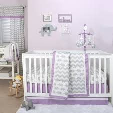 Gray Crib Bedding Sets by Ellie Patch Crib Starter Set In Purple U0026 Grey