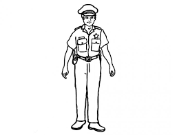 police coloring pages kids policeman printable