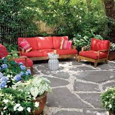 Patio Pads Stone Patio On Patio Cushions And New Pea Gravel Patio Ideas