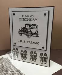 classic car masculine birthday card using stin up