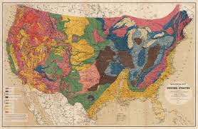 Map Of The United State 19th Century Geological Map Of The United States Hjbmaps Com