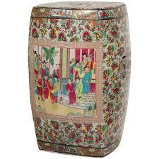 oriental furniture 18 in solid gold porcelain garden stool bw