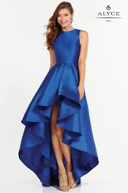 alyce paris 6826 is a beautiful bateau neck style dress with a low