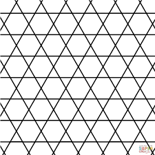 tessellation with hexagon and square coloring page for kids art