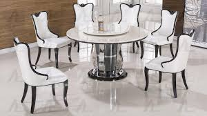 Round Dining Sets White Marble Top Round Dining Set