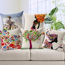 coussins originaux canapé charme motif housses de coussin coton coussin de mode couvre