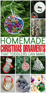 homemade christmas ornaments that toddlers can make trees