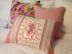 Upcycled Pillows - 1960s vintage ballet hanky pillow upcycled etsy com shop