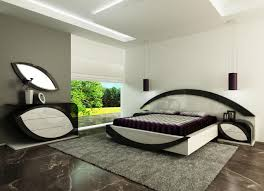 Black And White Bed Bedroom Adorable Contemporary Grey Area Rugs On Wooden Flooring