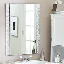 framed bathroom mirror ideas wall mounted white ceramic double