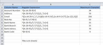 excel vba how to apply validation to each column using vba