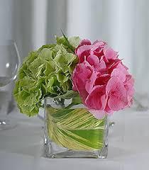 Hydrangea Centerpiece Green U0026 Pink Hydrangea Centerpiece